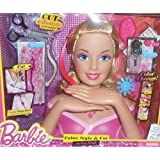 Barbie Deluxe Color, Style & Cut Styling Head (Blonde Barbie Syling Head & 19...