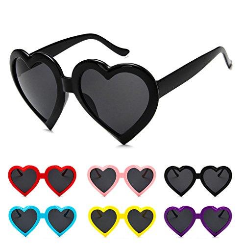 Lolita soleil verres grande fumés Classic fantaisie coeur colorées de Rétro UV400 femme mode en forme mioim Violet lunettes amour qx4AAn