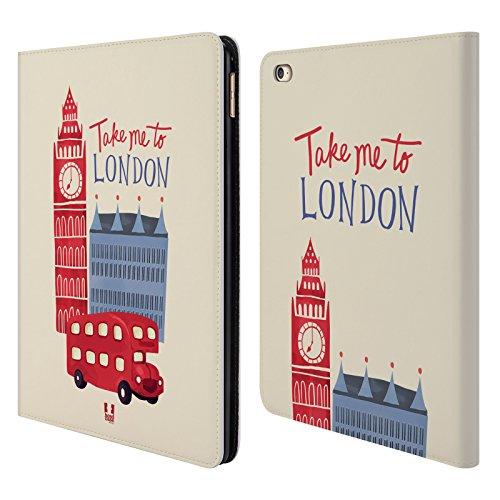 Head Case Designs Viaggio Il Meglio Di Londra Cover a portafoglio in pelle per Apple iPad Air 2