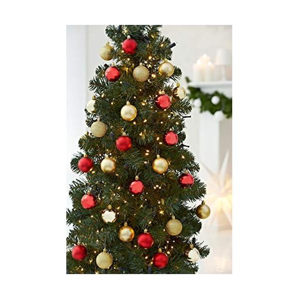 HEITMANN DECO Krebs & Sohn Set di 30 Palline di Natale in Vetro - Albero di Natale Deco Appeso - Palle di Natale - Rosso Oro 3 spesavip