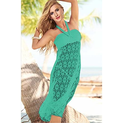 5506fb56e00e2 Vivilover Women's Lace Crochet Tunic Beach Dress Swimwear Cover Up Wrap