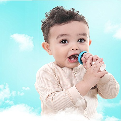 Mushroom Standing Training Toothbrush And Tongue Massage For Baby Infant Newborn Also Chew Teether Silicone Material 4pcs (Yellow) by Babyhood (Image #2)