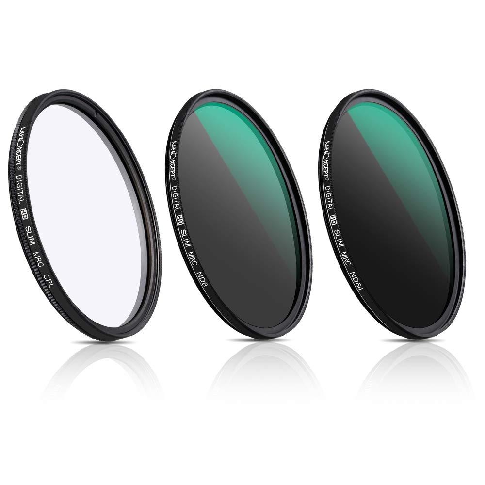 K/&F Concept 67MM 18-Layer MRC Super Slim CPL Filter Circular Polarizer Filter ND8 ND64 Filter Neutral Density Filter