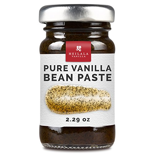 Gourmet Pure Vanilla Bean Pastes - Organically Grown, Contains Whole Vanilla Seeds from Hand Picked Heilala Vanilla Pods, All Natural, Superior to Tahitian, Mexican or Madagascar (Bourbon Vanilla Pods)