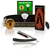 "~Shave Ready~ Shaving Straight Razor 6/8"" GD w/Box 208 Gold Dollar Straight Razor, The Blades Grim Soap, Synthetic Shaving Brush, GB Buckingham Strop - Complete Straight Razor Set"