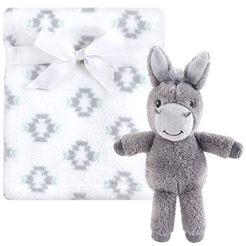 Hudson Baby Unisex Baby Plush Blanket with Toy, Snuggly Donkey 2 Piece, One Size from Hudson Baby