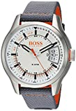 HUGO BOSS Men's 'Hong Kong Sport' Quartz Stainless Steel and Nylon Casual Watch, Color:Grey (Model: 1550015)