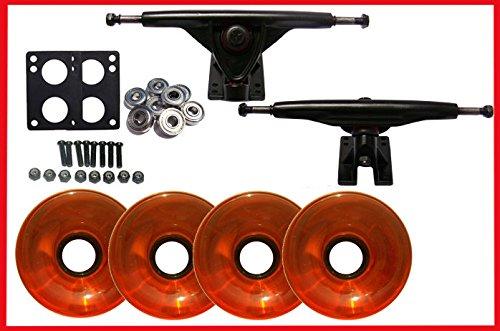LongboardスケートブラックTrucks +ホイール& Abec 7 Bearings B01MY6NF60