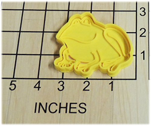 Frog Shaped Cookie Cutter and Stamp #1261