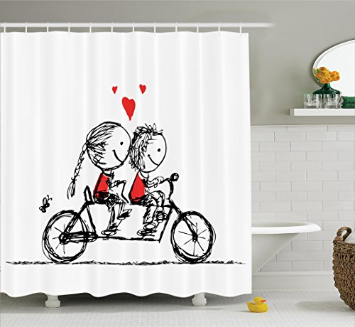 Ambesonne Children Characters Valentines Polyester