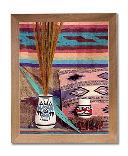 Indian Pottery Native (Southwestern Native American Indian Pottery #1 Wall Picture Honey Framed Art Print)