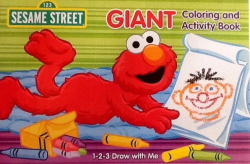 Sesame Street 1-2-3 Draw with Me! Oversized Giant Coloring & Activity Book! Games! Mazes! Puzzles! 16