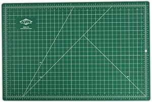 "Alvin Professional Self-Healing Cutting Mat, 12"" x 18"", Green/Black (GBM1218)"