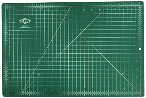 Alvin Deluxe Professional Self-Healing Cutting Mat, 12 x 18 Inches, Green/Black ()