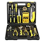 DOWELL 30 Piece Home Repair Tool Kit, General Household Tool Kit for Home Maintenance with Plastic Toolbox Storage Case