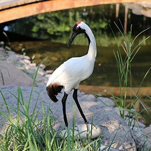 LVA Esculturas de jardín – Magpie Negro, Woodpecker, Camarón, Estatua de pájaro de Pavo Real, Figura Decorativa de jardín Escultura, 9 Red-Crowned Crane: Amazon.es: Jardín