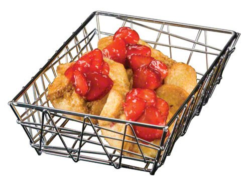 - American Metalcraft BZZ59C Rectangular Wire Zorro Baskets, Small, Chrome