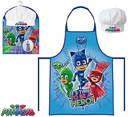 Disney Junior PJ Masks Childrens Apron 2 pcs set 3-8 years