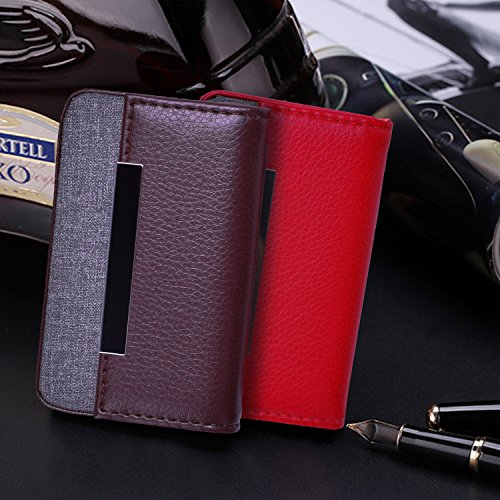 ed946be5a06c MaxGear Leather Business Card Cases Fashion Business Card Holder with Magnetic  Shut, Holds 25 Business