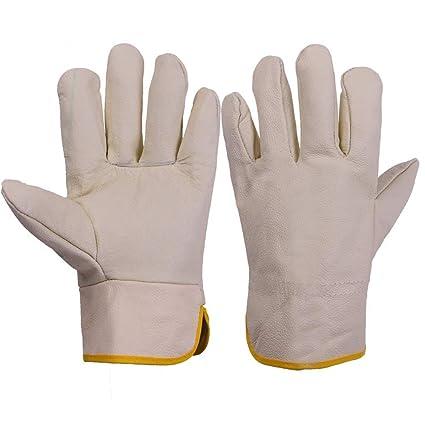 ZfgG Guantes de soldadura de alta calidad, guantes de soldador Guantes de chimenea Estufa de