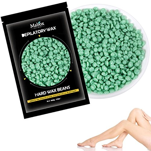 Foundation Pellets - Esharing New No Strip Depilatory Hot Film Hard Wax Pellet Waxing Bikini Hair Removal Bean,3 Colors Optional (Green)