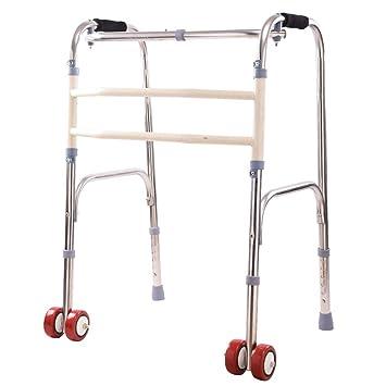 CZL-Wheelchairs Ancianos Walker Andador de Doble Uso Cuatro ...