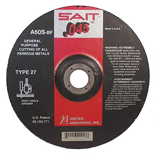 United Abrasives-Sait Depressed Center Wheels Ferrous Metal 22047