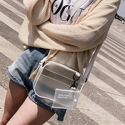 Femmes Lioobo Bandoulière Gelée Mini Sac De À Nouveau Main Bag Messenger D'été Style Transparent PEqCSq