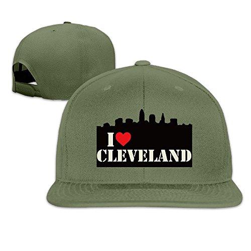 i-love-cleveland-skyline-adjustable-baseball-cap-snapback-forestgreen