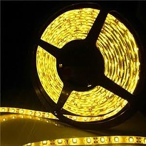 iNextStation Juego de iluminación de tira de LED 12V DC 5m/16.4Ft 3528SMD Flexible impermeable 300LED cadena Luz LED cinta Strand para Navidad Fiesta Boda Party
