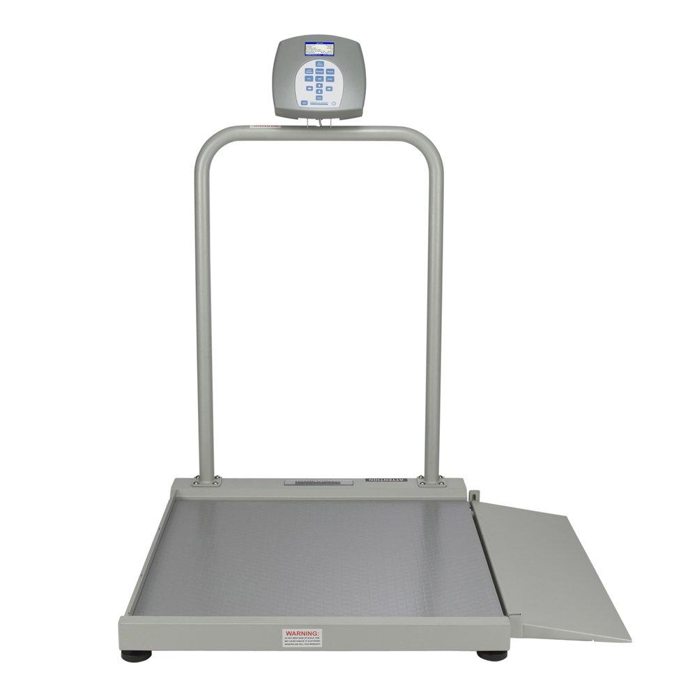 Health O Meter 2500KL Digital Wheelchair Ramp Scale, Capacity 1000 lbs., Resolution 0.2 lb, 29-1/4'' x 28-1/4'' Platform, 28-1/4'' Width x 9-7/8'' Death Ramp