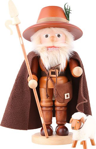 (German Christmas Nutcracker Shepherd natural colors - 38,5 cm / 15 inch - Christian Ulbricht )