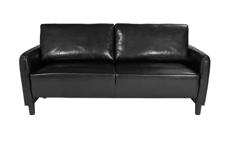 Amazon.com: Flash Furniture SL-SF919-3-BLK-GG - Sofá ...