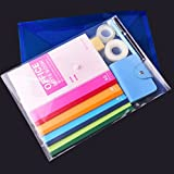 Poly Document Folder with Snap Button, Plastic