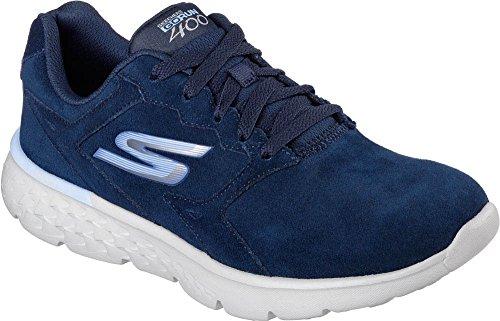 Skechers Women's GOrun 400 Lace Up Running Shoe Navy/Gry 9.5 M US