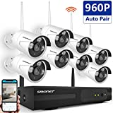 Home Security Camera System Wireless,SMONET 8CH 960P Wireless Surveillance System,8pcs 960P Wireless Outdoor Security Cameras,Plug and Play,Free APP,65ft Night Vision,Motion Detection,Easy Remote View