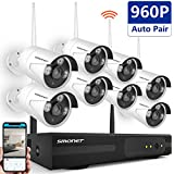 Security Camera System Wireless,SMONET 8CH 960P Wireless Surveillance System(WIFI NVR KIT),8pcs 960P Outdoor/Indoor Wireless IP Cameras,P2P,65ft Night Vision,Easy Remote View,Motion Detection,No HDD