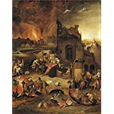 Canvas Prints Of Oil Painting 'Jheronimus Bosch (Copy After) - The Temptation Of Antony Abbot Of Egypt, 16th Century' 16 x 20 inch / 41 x 52 cm , Polyster Canvas, Bath Room, Game Room, Stud decoration
