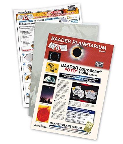 Baader AstroSolar SonnenfilterFolie ND3,8 f/ür Astro Fotografie Format ca 20 x 29 cm SofiA4f