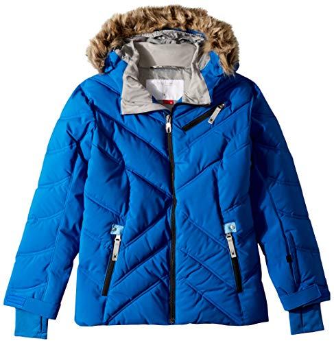 Spyder Girls' Atlas Synthetic Ski Jacket, Turkish Sea/Blue Ice/Silver, Size 8