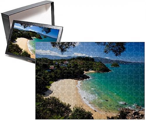 Photo Jigsaw Puzzle of Breaker Bay and Honeymoon Bay from Kaka Lookout, Kaiteriteri, Nelson region