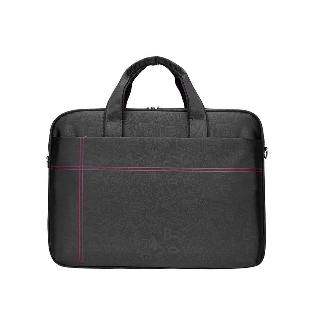 Laptop Messenger Bag Crossbody Shoulder Bag Shockproof Waterproof Laptop Case 14''/15'' Women's Briefcase With Handle And Shoulder Strap Briefcase Laptop Messenger Bag ( Color : Black , Size : 15'' )