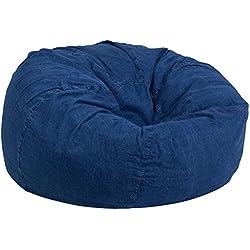 Flash Furniture Oversized Denim Bean Bag Chair for Kids