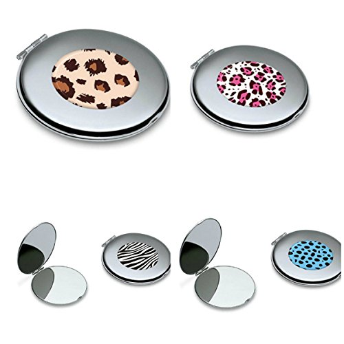 YChoice Cute Baby Toy Mini Rosy Pattern Round Metal Small Glass Mirrors Circles for Crafts Decoration Cosmetic Accessory by YChoice (Image #3)