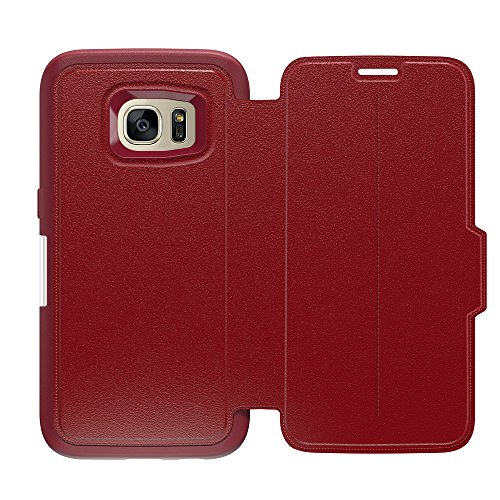 OtterBox STRADA SERIES Leather Wallet Case for Samsung Galaxy S7 - Frustration Free Packaging - RUBY ROMANCE (FLAME RED/FLAME - Series Strada