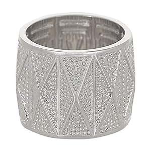 Venus Accessories Women's Rhodium Plated Brass Ring - 9 US