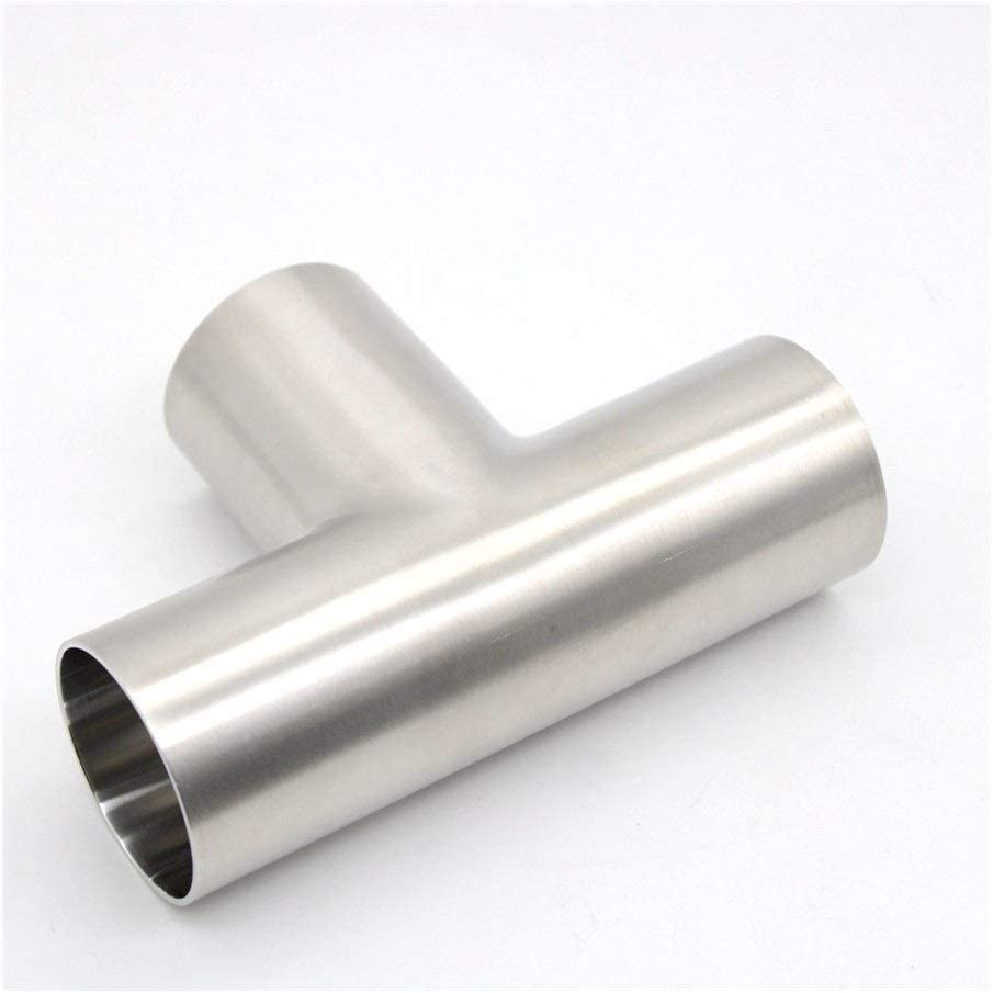Barret Stellanfgjhn Hose Pipe Connector T Joint, Sanitary Welding Pipe Connection Accessories, Food Grade SS304 (3A) Stainless Steel (Color : 50.8mm) 19.05mm