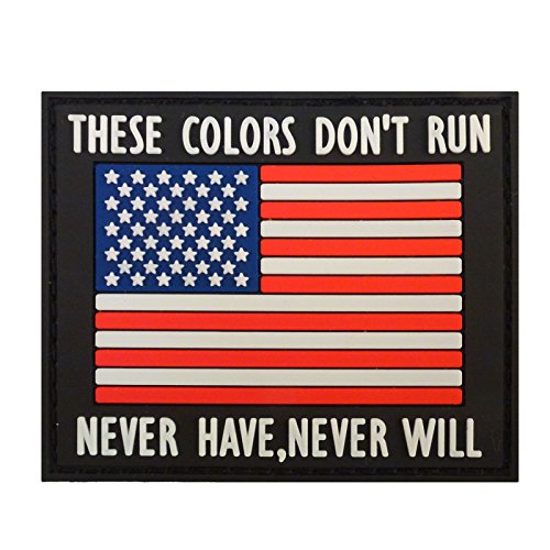 THESE-COLORS-DONT-RUN-American-Flag-Morale-PVC-Rubber-Fastener-Patch