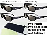 New 3d Theater 3d Glass - Pack of 4
