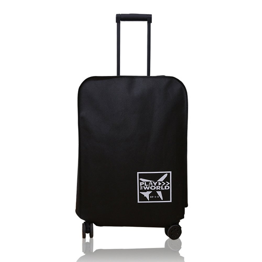 Travel Luggage Cover, Suitcase Protector Bag Fits 20-30 Inch Luggage Waterproof Dustproof Cover (20inch,Black)